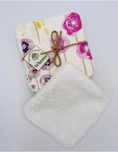 Lingettes démaquillantes lavables en éponge blanche